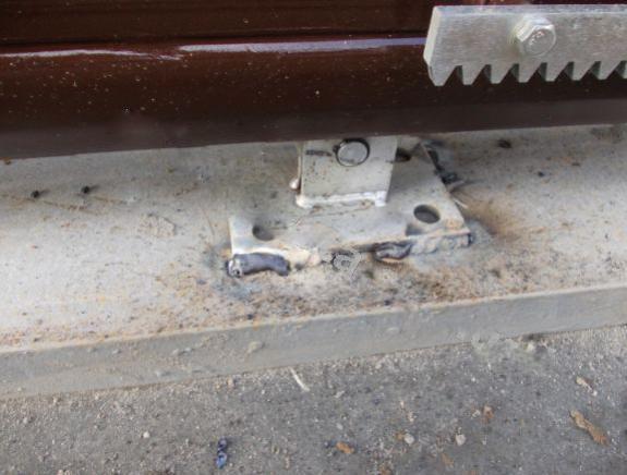Установка роликовых кареток