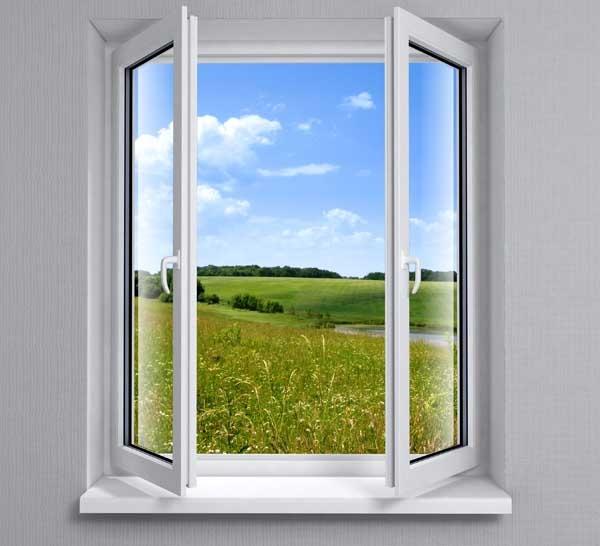 Стандартное окно с поворотными створками