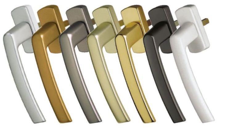 Пластиковые, металлические ручки для окон от классического белого до цвета бронзы