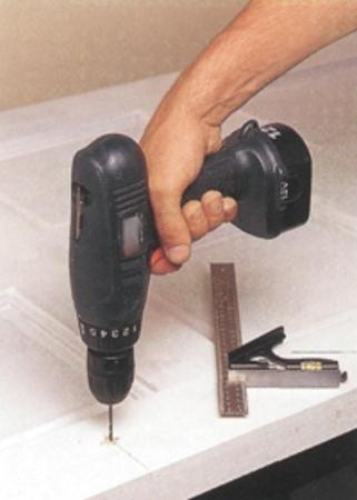 Сверление отверстий для крепежных элементов