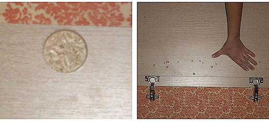 Монтаж поворотной фурнитуры в створку двери