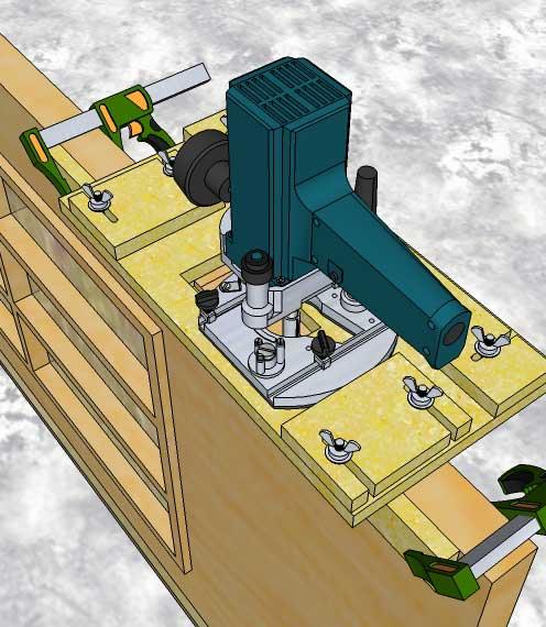 Высверливание двери для установки врезного замка специальной насадкой