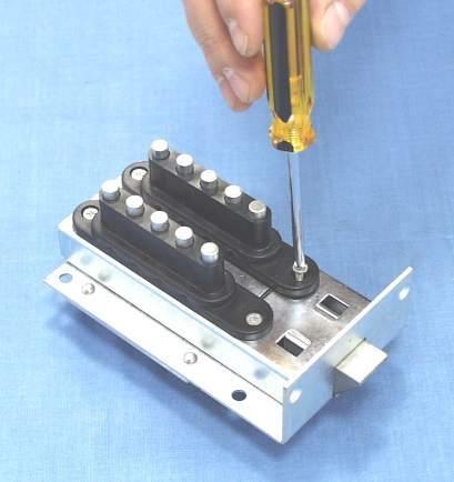 Снятие кнопочной панели для перекодировки