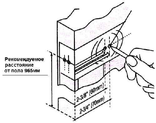 линий для установки замка