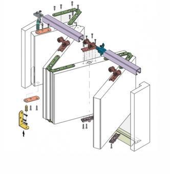 Конструкция складных дверей