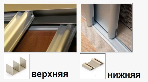 Полотно дверей двигается по направляющим (верхним и нижним)