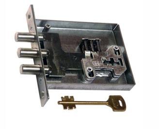 Внутренне устройство замка сувальдного типа