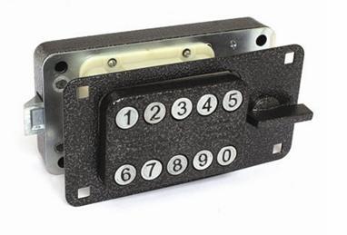 Простейший механизм с набором кода кнопками