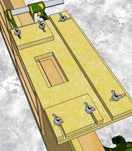 Установка шаблона на дверное полотно