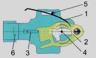 Сувальдный механизм с качающимися пластинами