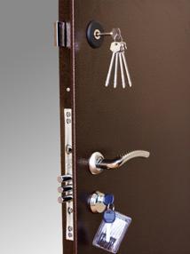 Внешний вид двери с двумя замками