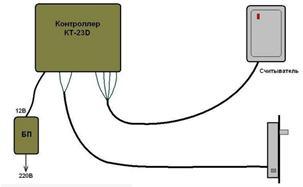 Общая принципиальная схема электрического замка