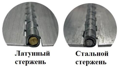 Стальные петли с различным стержнем