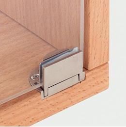 Мебельная петля, устанавливаемая без сверления стекла