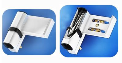Автоматические петли-доводчики для ПВХ-дверей с наплывом