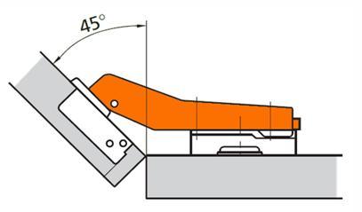 Мебельная петля для углового шкафа