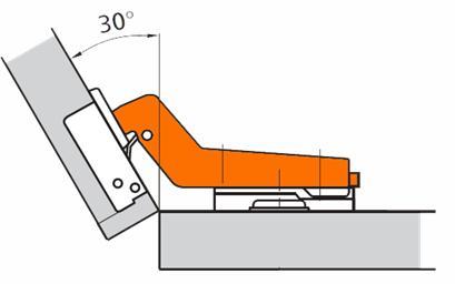 Фурнитура, позволяющая открыть дверь под определенным углом