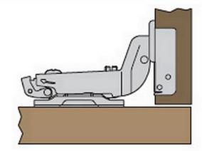 Мебельная петля для дверцы, расположенной внутри корпуса