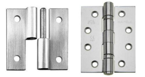 Разъемные петли позволяют снять дверь без демонтажа петель