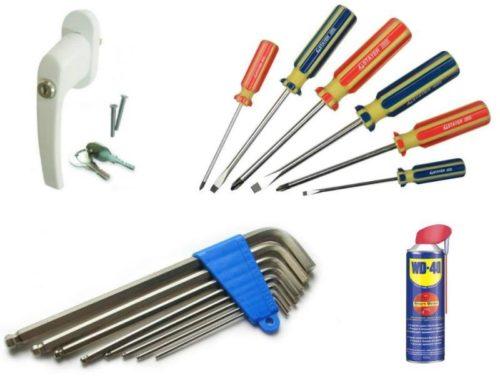Инструменты для замены ручки пластикового окна