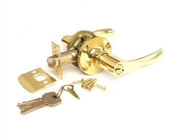 Простейшая дверная ручка, дополненная функцией закрывания ключом