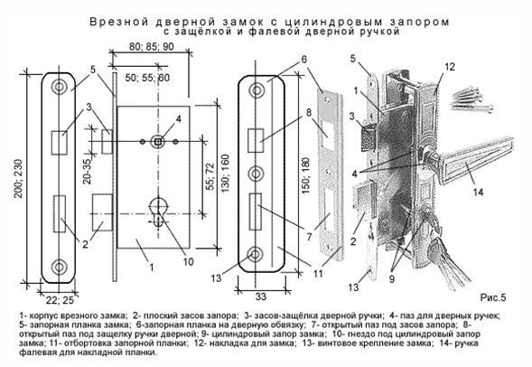 Схема электрозамка входной двери