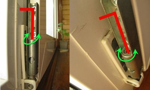 Выравнивание дверного полотна в вертикальном направлении