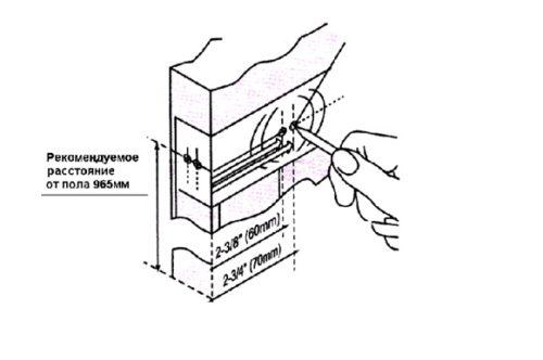 Определение места расположения основных элементов защелки