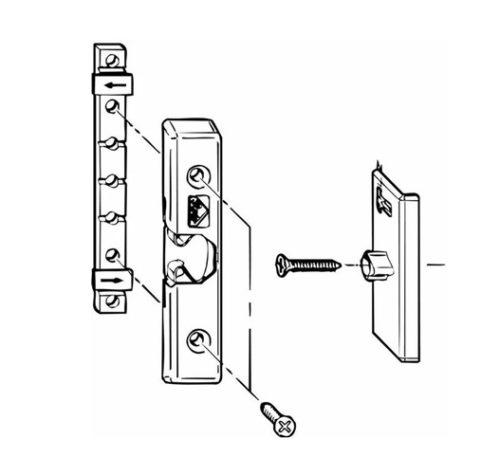 Подробная схема установки защелки на дверь балкона