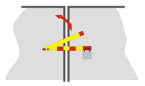Металлический засов для ворот и калиток
