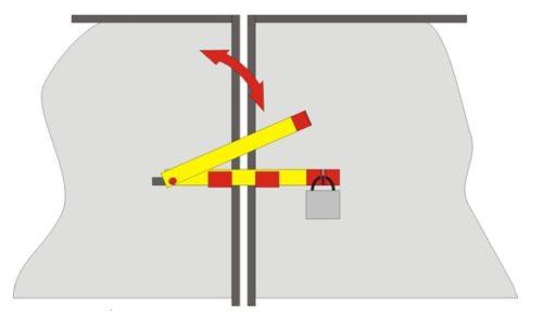 Засов для ворот с возможностью установки дополнительного замка