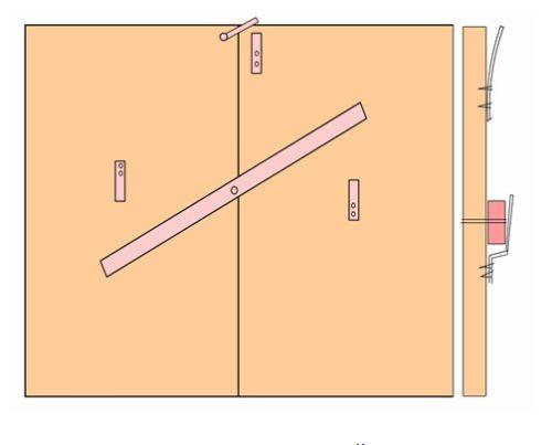 Простейший засов для ворот с низкой степенью надежности