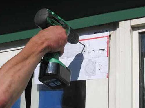 Подготовка отверстий для фиксации устройства