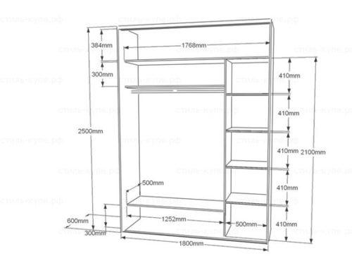 Схема шкафа для хранения велотранспорта