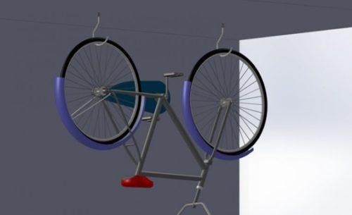 Хранение велосипеда, способом подвешивания к потолку