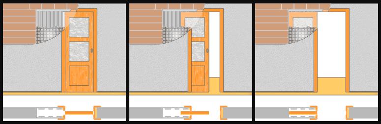 Дверь, открывающаяся в кассету