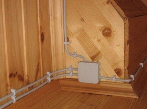 Разводка электрического кабеля по стене