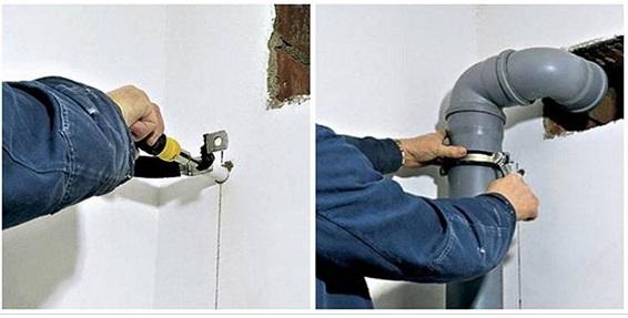 Общая схема установки крепежей на примере хомута