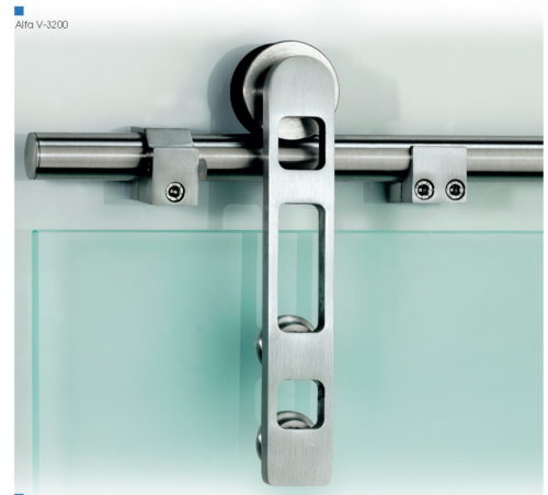 Раздвижной механизм для стеклянных дверей