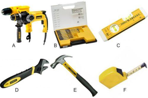 Необходимые для установки стенки инструменты