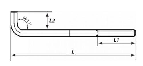 Параметры длины анкерного болта