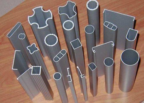 Различные виды алюминиевых профилей
