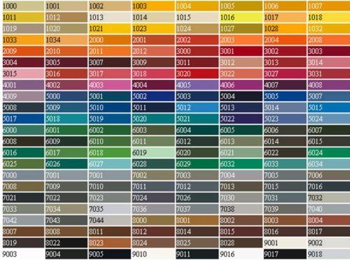Цветовая гамма профилей для остекления