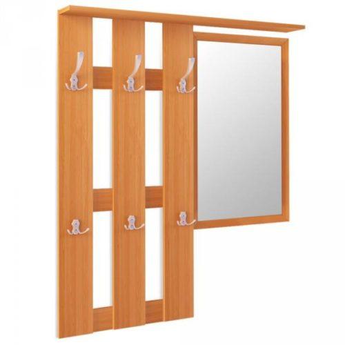 Настенная вешалка, дополненная зеркалом