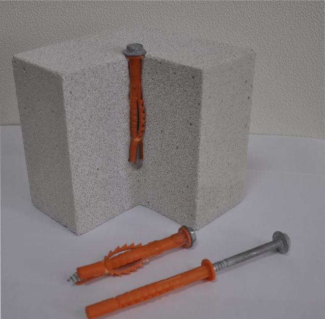 Анкеры для крепления легких конструкций в газобетон