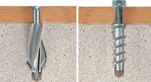 Анкеры для крепления средних и тяжелых конструкций в газобетон