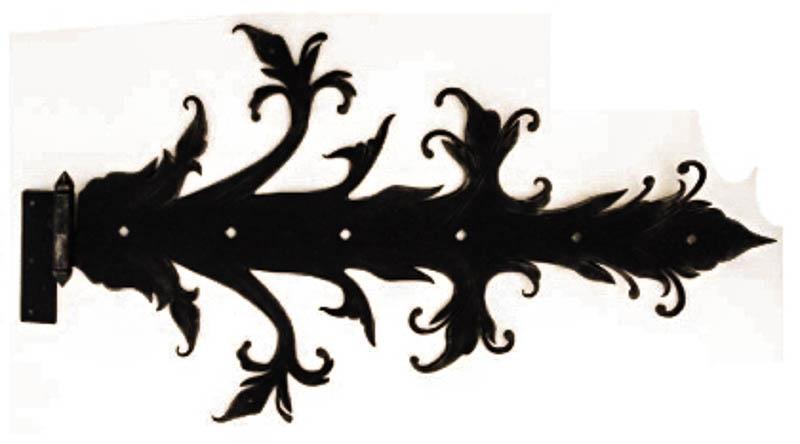 Гаражная петля, изготовленная методом ковки