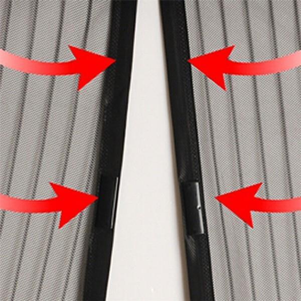 Закрытие занавески отдельными магнитами