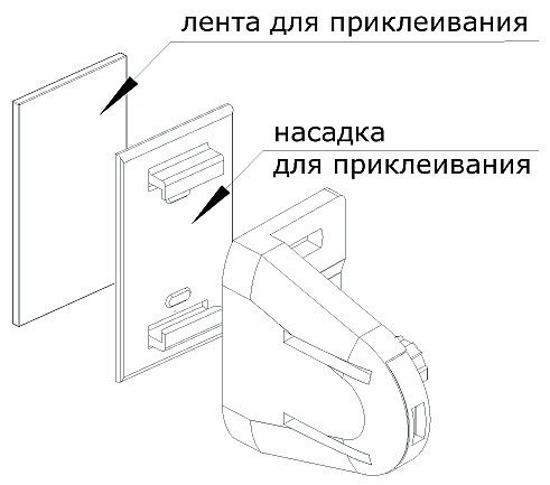 Специальные держатели рулонных штор для глухих окон