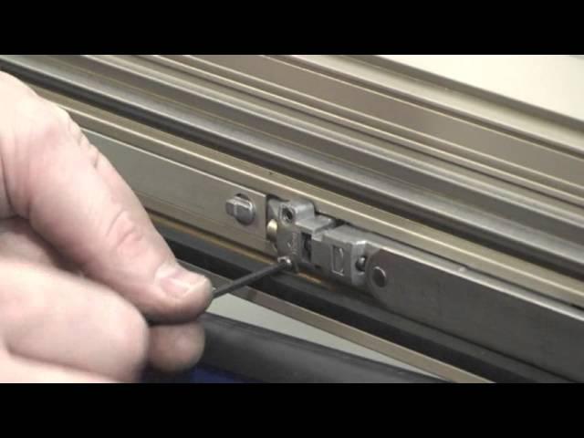 Регулировка фурнитуры алюминиевого окна